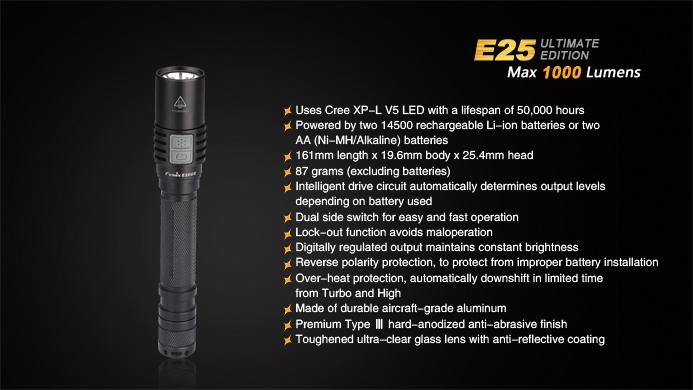 Fenix E25ue 1000 Lumens Led Torch Fenix Light Australia