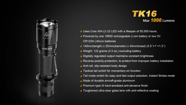 Fenix Flashlight TK16